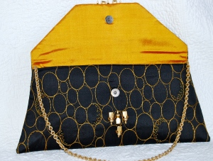 Gorgeous silk beaded evening bag