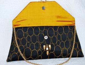 Gorgeous silk beaded evening bag